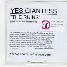 (FL337) Yes Giantess, The Ruins - 2010 DJ CD