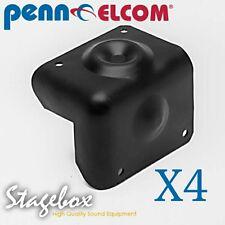 Penn Elcom 4 x Heavy Duty Steel Cabinet Corner Stackable