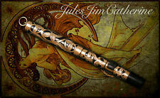 Art nouveau overlay filigree Conklin Crescent fountain pen,Mark Twain's favorite