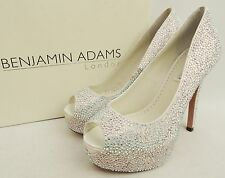 Benjamin Adams Tyra Crystal Heels Wedding Bridal Sandals UK4 EU37
