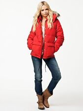 NEW RALPH LAUREN RED DOWN JACKET WITH REMOVABLE HOOD SIZE S