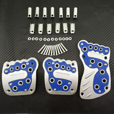 """3 PIECE NONSLIP CAR """"FOOT"""" BAREFOOT STYLE COVERS CHROME SPORTS PEDALS PLATES"""