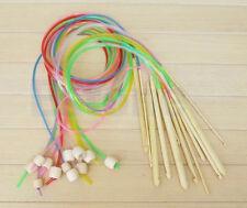 Set of 12pcs Afghan Wood Circular Crochet Knitting Knit Needles Hooks 3-10mm New