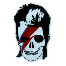 David Bowie Skull Lightning Bolt Patch Iron on Applique Ziggy Stardust Goth Punk