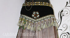 Gray Tassel Belly Dance Belt for FAE Renaissance Tribal ATS CosPlay