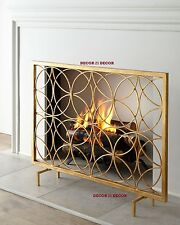 ITALIAN GOLD FIREPLACE SCREEN /HORCHOW