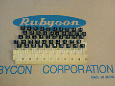 [50 pcs] Rubycon series ZL 100uF 25V Low imp. capacitors made in Japan