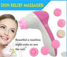 New 6 in1 Multifunction Electrical Sonic Brush Massager Relief Face Skin Exfo
