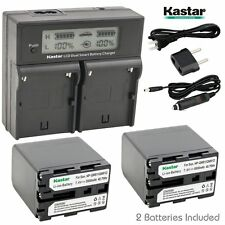 LCD Dual Fast Charger & 2 x Battery for Sony NP-QM91D CCD DCR DSR HDR HVR