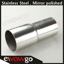 """63MM (2.5"""") To 57MM(2.25"""")  SS Flared Exhaust Reducer Connector Pipe"""