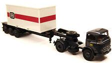 H0 Brekina MERCEDES BENZ MB LP 338 autoarticolati con 20 FT container DB # 48012
