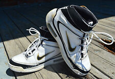 Nike Air Elite White & Black Leather Women's High Tops - Size 7 Free Shipping!
