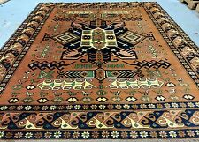 1950-1960s Vintage 7x8ft Multi-Colored Pakistani-Afghan  Wool Pile Area Rug