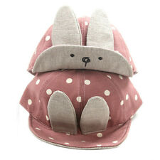 Newborn Toddler Kids Baby Girls Boys Visor Baseball Rabbit Ear Dots Cap Warm Hat