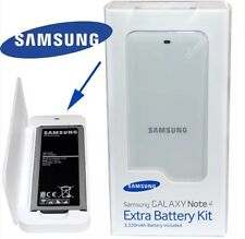 GENUINE SAMSUNG GALAXY NOTE 4 EXTRA BATTERY & CHARGER KIT White EB-KN910BWEGWW