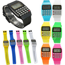 Silicone Date Multi-Purpose Fashion Child Kid Electronic Wrist Calculator Watch