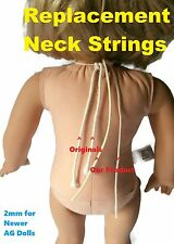 American Girl Doll Repair - 2mm Neck String for Newer AG Dolls