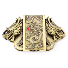 Vintage Lighter Dragon Belt Buckle Cowboy Native American Motorcyclist (LTR-5)