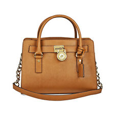 Michael Kors Hamilton Satchel Handbag in Luggage - Tan MK30S2GHMS3L-230