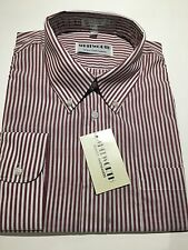 "NEW Whitworth Long Sleeve Shirt Men's 16 1/2 "" Large Purple Striped Work Casual"