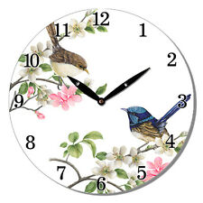 New 28.8CM MDF Round Wall Clock Wall Clock Home Decor Gift-Two Birds
