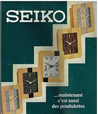 Publicité Advertising 1976 Les pendules pendulettes Seiko par Daniel Lévy