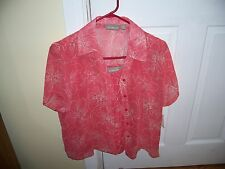 NWT Croft & Barrow 2 Piece Blouse Set Cami & Short Sleeve Size S