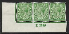 ½d Green Block Cypher Control I28 imperf UNMOUNTED MINT