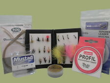 Fly Fishing Gift Set 1, Box of flies and accessories