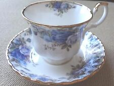 Royal Albert Moonlight Rose ~  Blue And White Coffee Tea Cup and Saucer Set