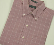 LYLE & SCOTT Scotland Combed Cotton Dress Shirt Large L Button-down Pink Fuschia
