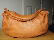 Tommy & Kate tan leather single strap handbag/shoulder bag