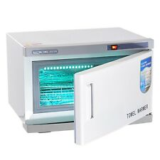 16L 2 in 1 UV Light Hot Facial Spa Towel Sterilizer Salon Cabinet Warmer Heater
