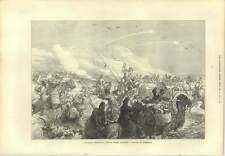 1873 Russian Troops Attack Caravan Of Turkomans Khiva Expedition