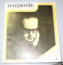 Revue Harmonie. N° 3. Mars 1974. Le disque et la crise. Festival du son. Musique