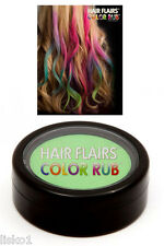 Hair Flairs Color Rub, Temporary Vibrant Fun Hair Colors   .14 oz. (green) LMS