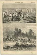 1855 Russian Convoy Crossing Steppe Gagarin Russians On The Halt Raffet