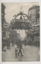 Gloucestershire postcard - Top of High Street Decorations July 9th 1908, Bristol