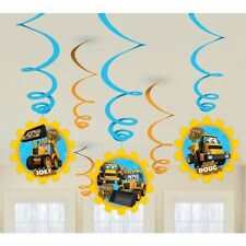 JCB Digger Swirl Decoration My 1st JCB Digger Childrens Party Swirl decorations