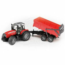 Bruder Toys 02045 Pro Series MASSEY FERGUSON 7480 Tractor & Tipping Trailer 1:16