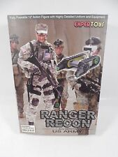 """SEALED EXPERTOYS US ARMY RANGER RECON ACU VERSION 12"""" ACTION FIGURE MIB"""
