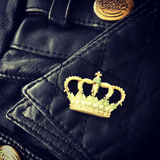 Vintage Crown Royal Queen King Pin Broche Gothic Rockabilly Kitsch