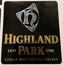 Highland Park scotch whisky sticker.
