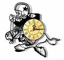 "Vinyl Record Wall Clock ""Dallas Cowboys #2"", cool modern, decorative art ~ 12"""