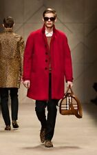 BURBERRY PRORSUM- MEN CASHMERE-RUNWAY COAT-SZ:44- MADE IN ITALY- AWESOME COLOR