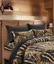 BLACK CAMO QUEEN SHEET SET BEDDING 6 LIKE REAL TREE CAMOUFLAGE FLAT FITTED 800