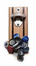 Bruntmor CapMags Powerful Magnetic Beer Bottle Opener and Cap Catcher Rubberwood