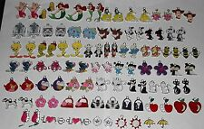 100 IMPERFECT METAL ENAMEL CHARMS Pendants Disney Star Wars Pokemon Snoopy B
