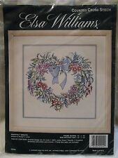 Elsa Williams Counted Cross Stitch Kit - Heartfelt Wreath - JCA - LeClair - NEW