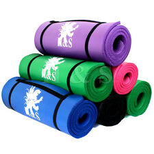 15mm Thick Yoga Exercise Fitness Gym Mat Pilates Camping sleeping Non Slip Bag